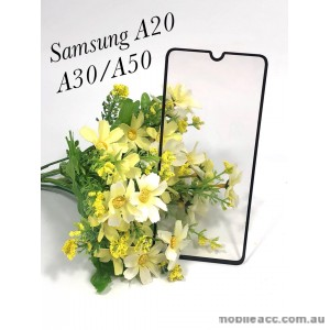 Tempered Glass For Samsung  Galaxy  A20 / A30/ A50 Black