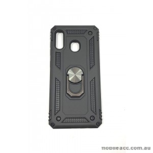 Anti Shock with Magnet Stand case for Samsung  A20 A30 BLK