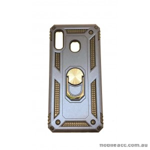 Anti Shock with Magnet Stand case for Samsung  A20 A30  Navy Blue
