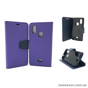 Mooncase Stand Wallet Case Cover For Telstra  ZTE Tough MAX 3 T86  Purple