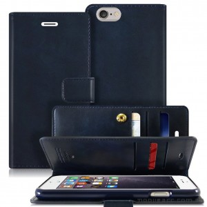 Mercury Mansoor Wallet Diary Case for iPhone 5/5S/SE Navy