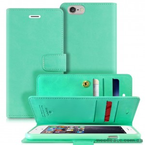 Mercury Mansoor Wallet Diary Case for iPhone 5/5S/SE Mint