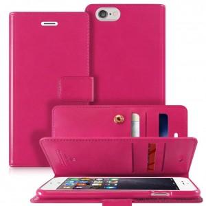 Original Mercury Mansoor Wallet Diary Case for iPhone 6 Plus / 6S Plus Hot Pink