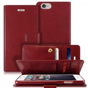 Original Mercury Mansoor Wallet Diary Case for iPhone 6 Plus / 6S Plus Wine