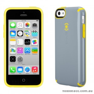 Genuine Speck CandyShell Protective Case for iPhone 5C - Grey/Yellow